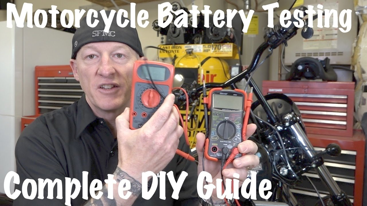 How To Test Motorcycle Battery Charging System Multimeter Or Voltmeter