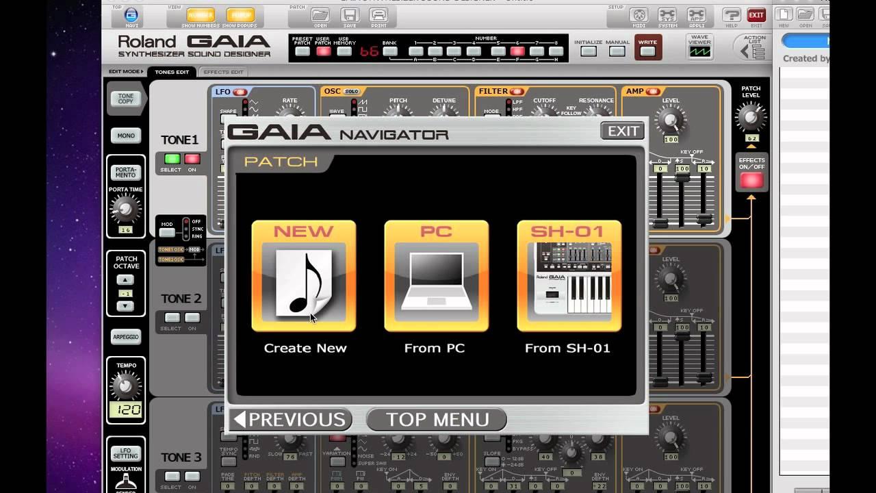 Roland Gaia Sh 01 Sound Designer Software Introduction Youtube