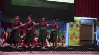 Bangla Pohela Boishakh Program 2014 (HD) - [Madal Sure Bajlo Bashi--Dance]