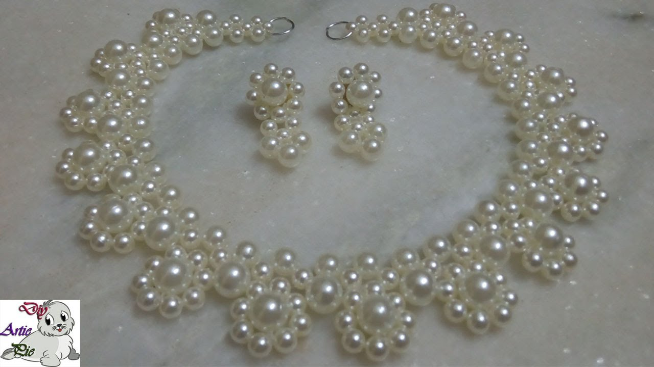 3 How To Make Pearl Beaded Necklace Jewellery Making