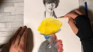 HB pencil drawing and color pencil drawing [Kenshi Yonezu] 今回は、...