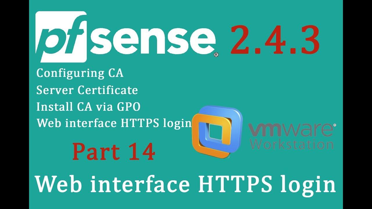 PfSense 2 4 3 Web interface HTTPS login - pfSense Part 14