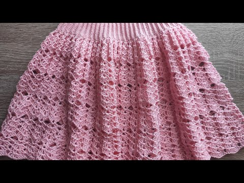 Мк. Нежная,красивая юбка крючком