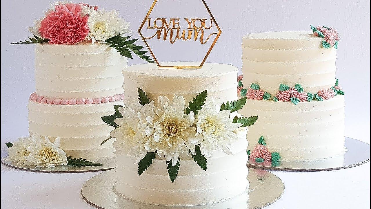 Mini 2 tier Mothers Day Cake Tutorial- Rosie\'s Dessert Spot - YouTube