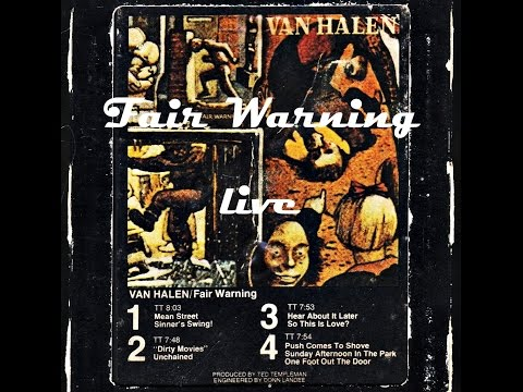 Van Halen: 'FAIR WARNING' LIVE IN PHILADELPHIA, July 1981