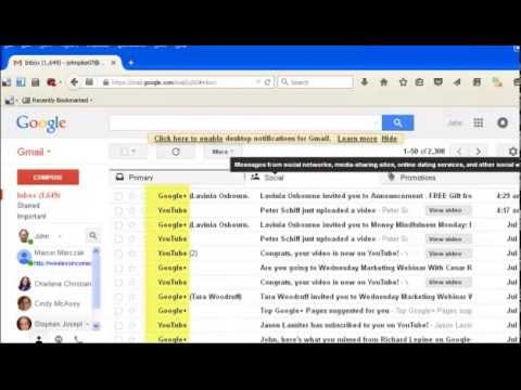 how to get to email lists in gmail