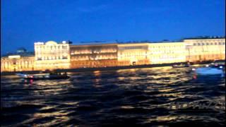 Санкт Петербург, белые ночи, разведение мостов.12/06/2015