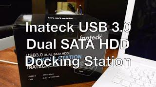 Inateck® USB 3.0 to SATA Dual Two Bays USB 3.0 External Hard Drives Docking Station