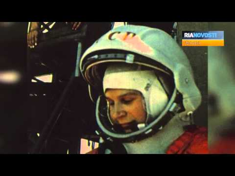 Valentina Tereshkova, the First Female Cosmonaut. Archive Footage