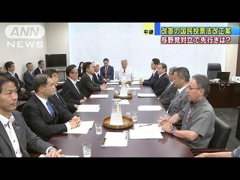 改憲の国民投票法改正案 与野党対立で先行きは?(18/07/02)