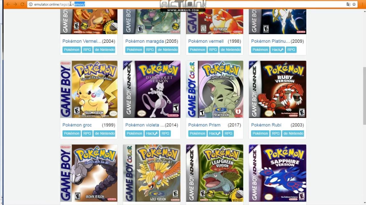 Gameboy color emulator online - Pokemon Emulators Online