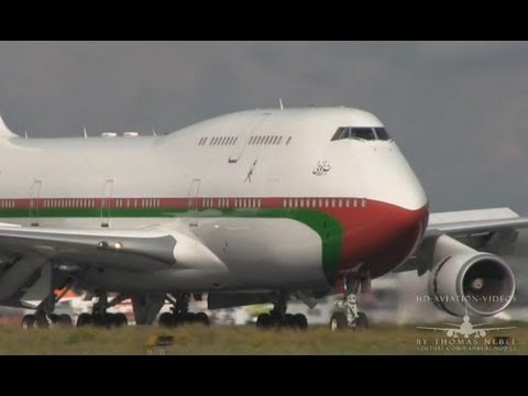 ᴴᴰ ✈ Sultan Aircraft! B747-430 Royal Flight of Oman Landing @ Hamburg