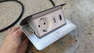 르그랑 팝업콘센트. 테이블설치용. 220V콘센트+USB…