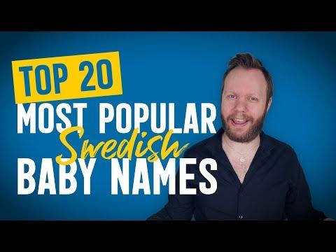 Top 20 Most Popular SWEDISH Baby Names