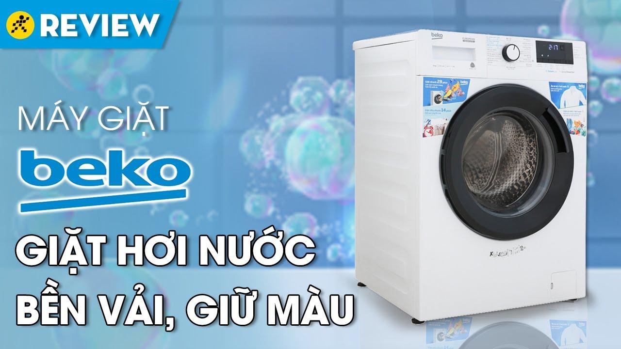 Máy giặt Beko: giặt hơi nước, chạy êm, tiết kiệm điện (WCV9612XB0ST) • Điện máy XANH