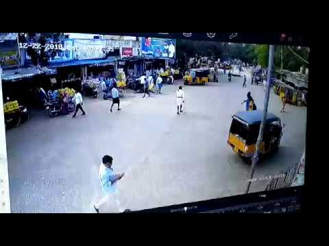 Road accident at RTC Bus stand, Gudur