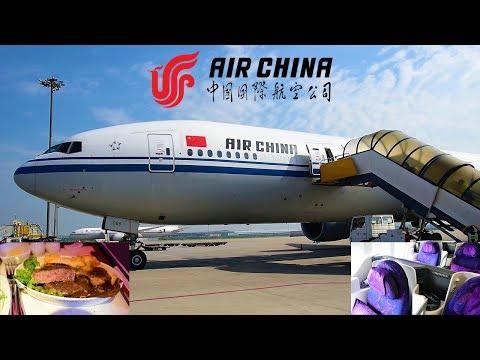Air China Business Class Beijing to New York CA989