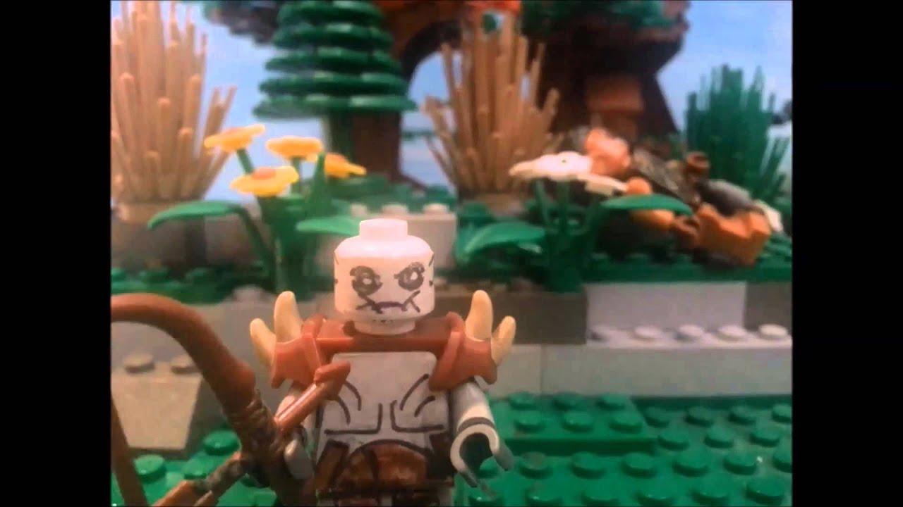 Lego The Hobbit: The Barrel escape - YouTube
