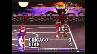 NBA Hangtime Gameplay [Genesis] Bulls(me) vs Jazz
