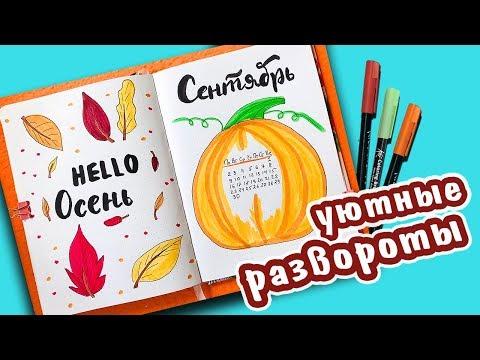 Оформление Ежедневника на Сентябрь 🍁 Идеи для лд 🍂 Личный Дневник ОСЕНЬ