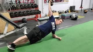 Side Plank w/ Weight Overhead