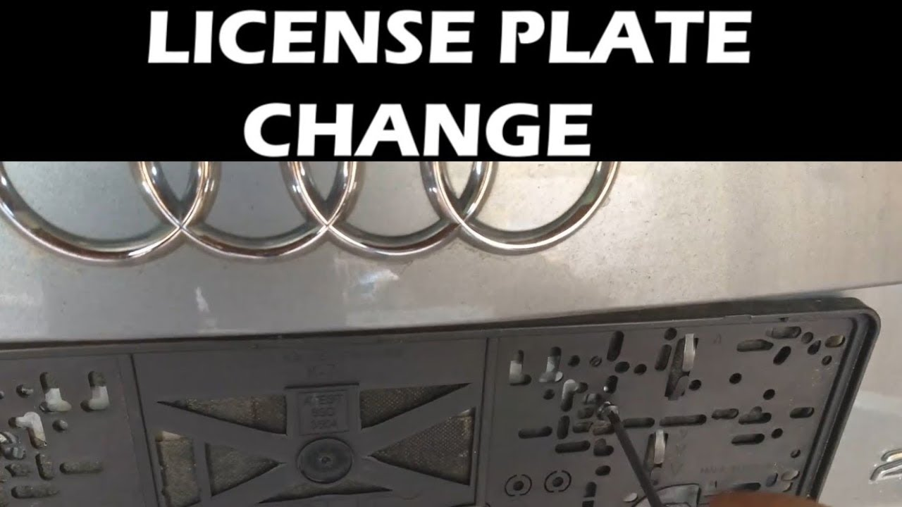 how to remove number plate