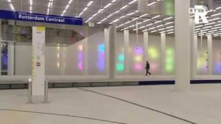 Laatste hand aan metrostation Rotterdam Centraal