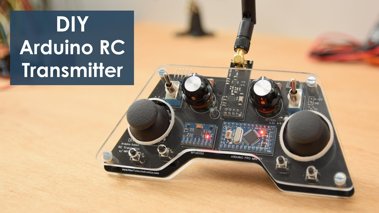 DIY Arduino RC Transmitter - HowToMechatronics on