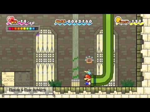Let's Play Super Paper Mario - Part 14: The Second Heart Pillar