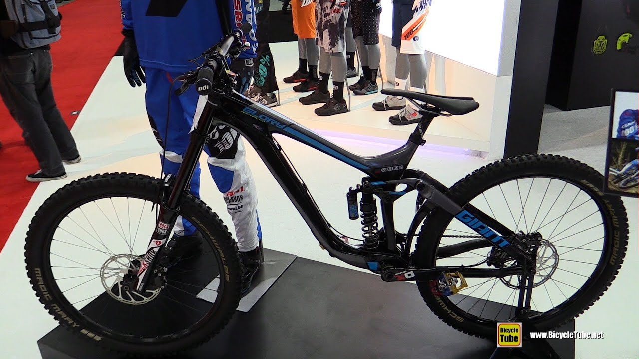 2017 Giant Glory Advanced Racing Downhill Bike - Walkaround - 2016 Interbike Las Vegas - YouTube