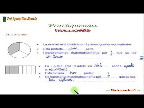 FRACCIONES EJERCICIOS RESUELTOS DE CUARTO DE PRIMARIA - YouTube