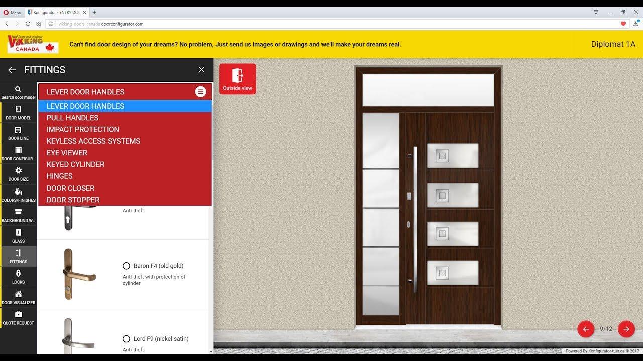 VIKKING doors configurator  sc 1 st  YouTube & VIKKING doors configurator - YouTube