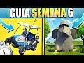 GUÍA de DESAFÍOS  de la SEMANA 6 - Pruebas Cronometradas, Tesoro... (Fortnite Temporada 5)