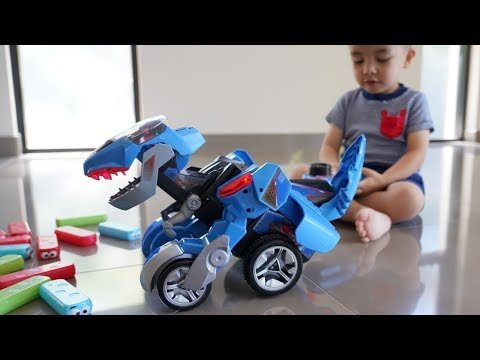 Transforming Dinos Dash the T-Rex Unboxing Fun With Ckn Toys