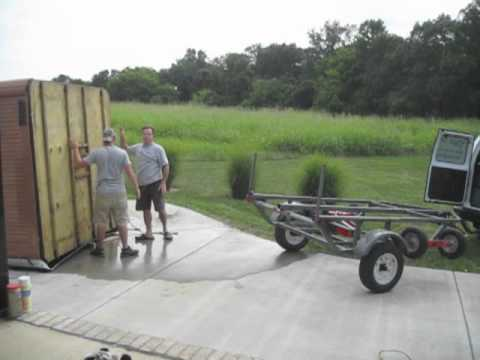 Moving Hot Tubs Series Picking up an 8 Hot Tub Spa with Spa Dolly