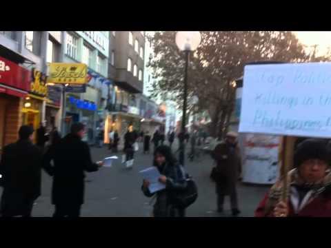 Demonstration in front of Philippine Embassy in Vienna, Austria