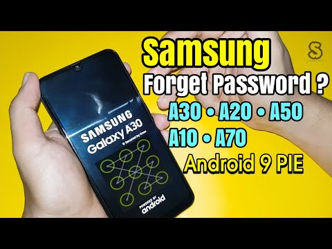Fix Samsung A30 / A50 / A20 / A10 / A70 / A80 Lupa Pola Password | Hard Reset Wipe Data 2019