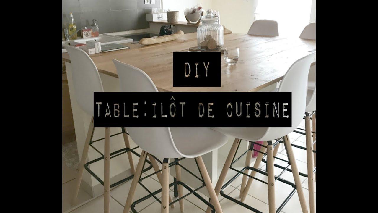 Ilot Central Et Table diy table/ilôt de cuisine