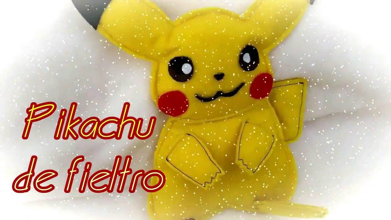 Pikachu de fieltro Manualidades con fieltro pikachu pattern J&R