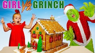 Download Girl vs Grinch Challenge! Will She Save Christmas? The Grinch in Real Life! Mp3 and Videos