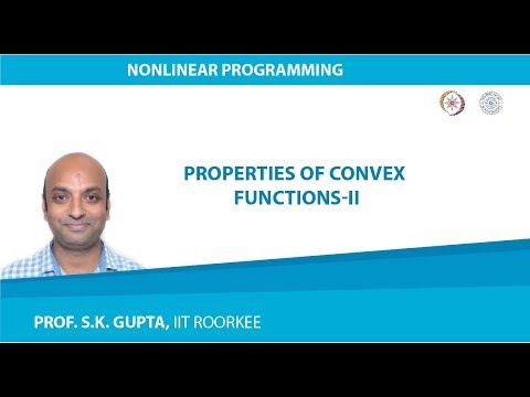 Lecture-03 Properties of Convex Functions-II