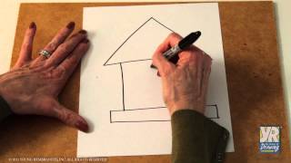 Teaching Kids How To Draw: How To Draw A Birdhouse