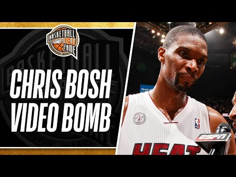 Chris Bosh Video Bombed by LeBron and Wade after Portland Game