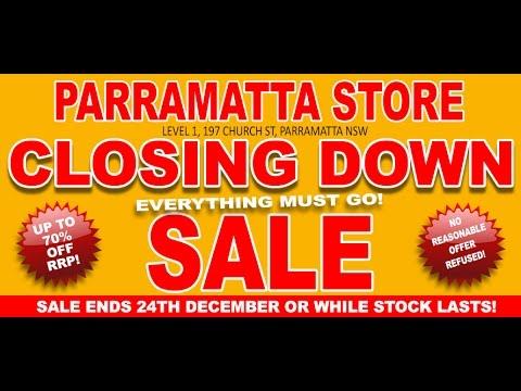 Allans Billy Hyde Parramatta Closing Down Sale