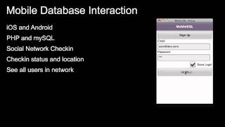 Mobile Database Interaction for iOS and Android