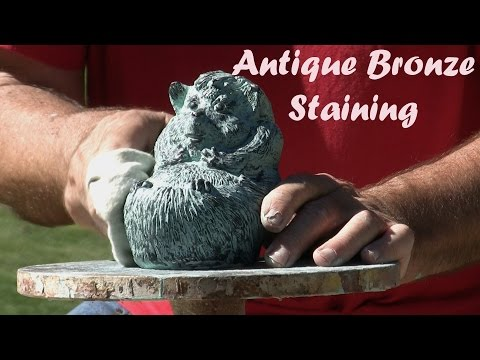 Antique Bronze Patina Staining - Painting Hedgehog Statue