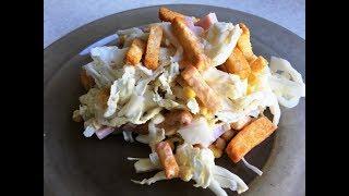 Салат из пекинской капусты и ветчины - вкусный рецепт