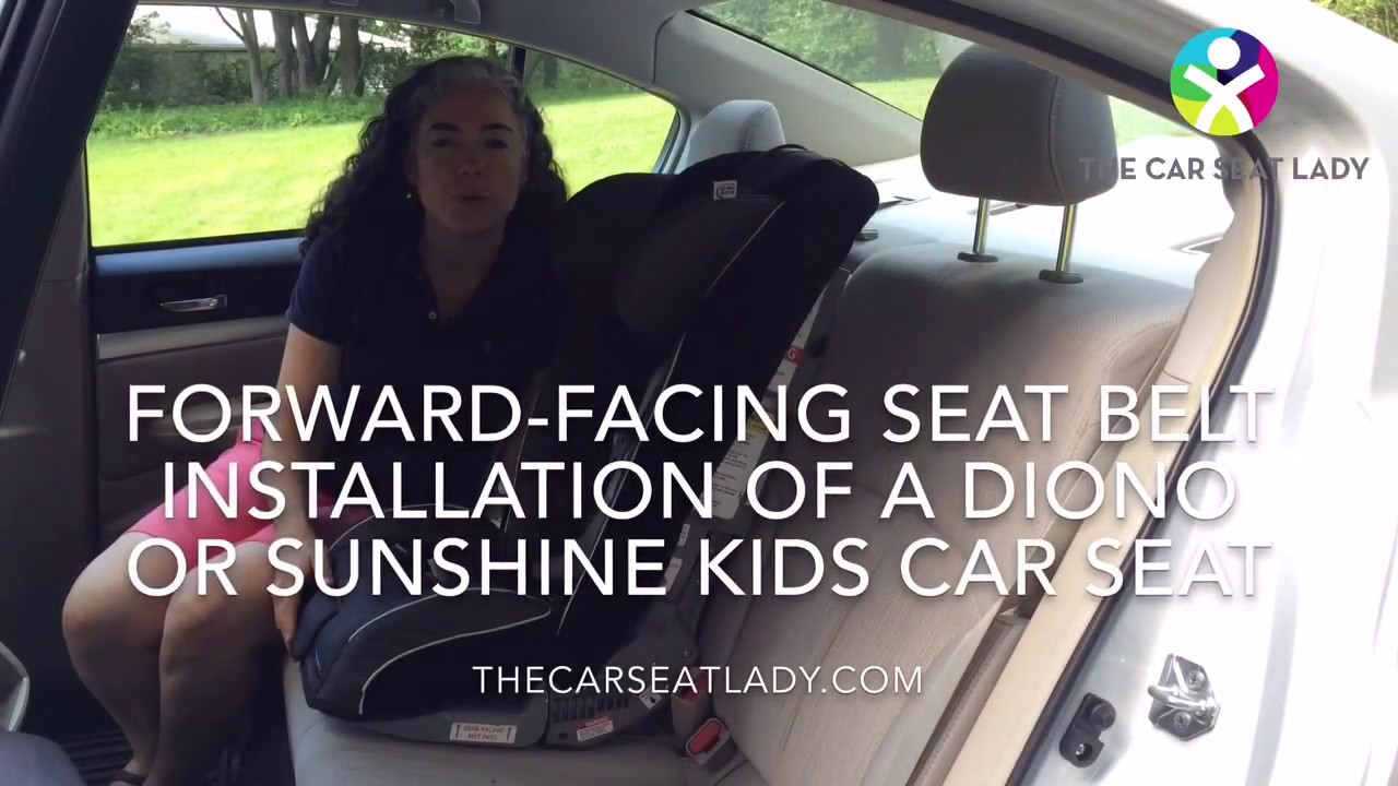 How to Install a Diono Car Seat Forward-Facing (Seat Belt + Tether ...