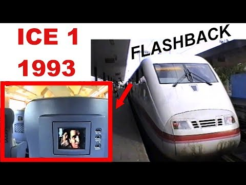 FLASHBACK 1993 - Fahrt im ICE 1 Hamburg nach Hannover -  ride on the ICE 1 - Original Sound