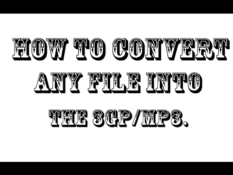 how to change 3gp to mp3